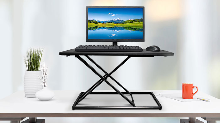 a computer on the Desk Riser Monitor Stand to improve it is SLIM & PORTABLE