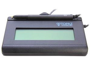 Topaz SignatureGem LCD 1x5 T-L462 Series T-L462-B-R Signature Capture Pad -  Newegg com