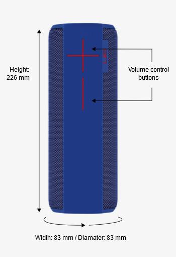 Ultimate Ears UE MEGABOOM Waterproof Wireless Bluetooth Speaker, Charcoal  Black, 984- 000436 - Newegg ca