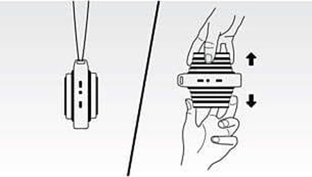 a diagram showing how to pull out the speaker