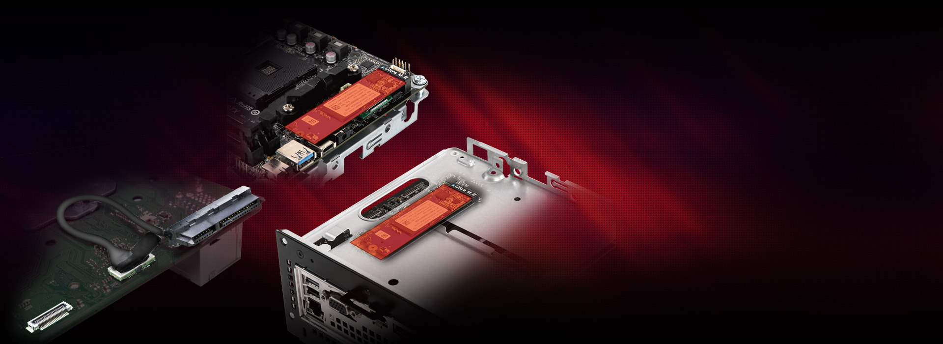 PCIE SSDs being installed on a dismantled A300 system
