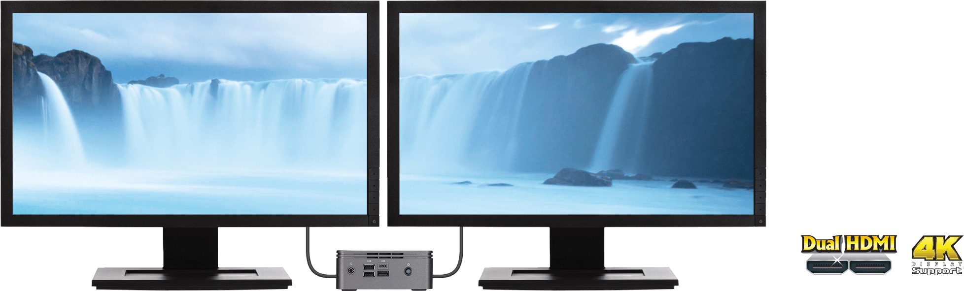 two monitor connecting side by side