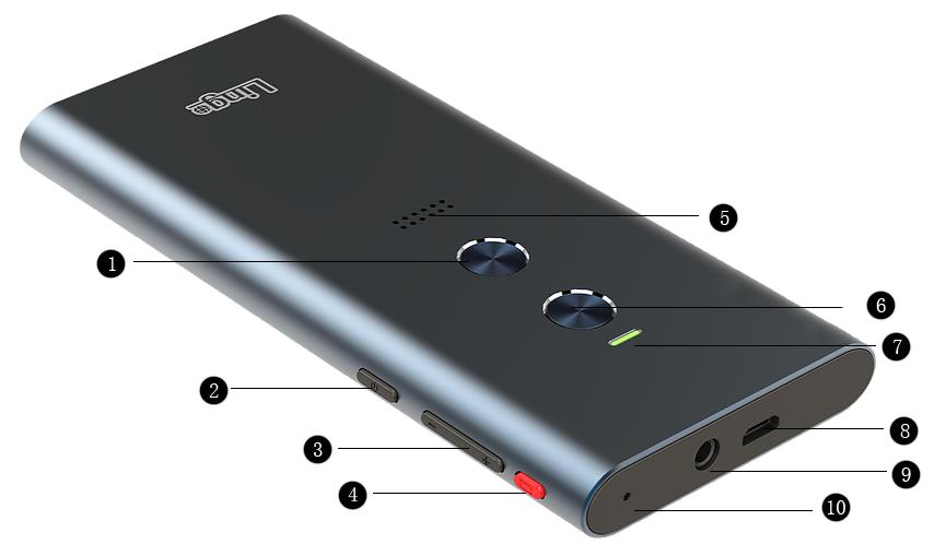 Lingo PMTMK1 Two-Way Multi-Language Personal Translator with True Wireless  Stereo Earbuds - Newegg com