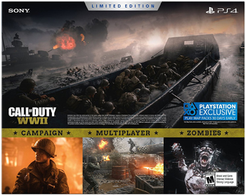 PlayStation 4 Slim 1TB Console - Call of Duty WWII Limited Edition -  Newegg com