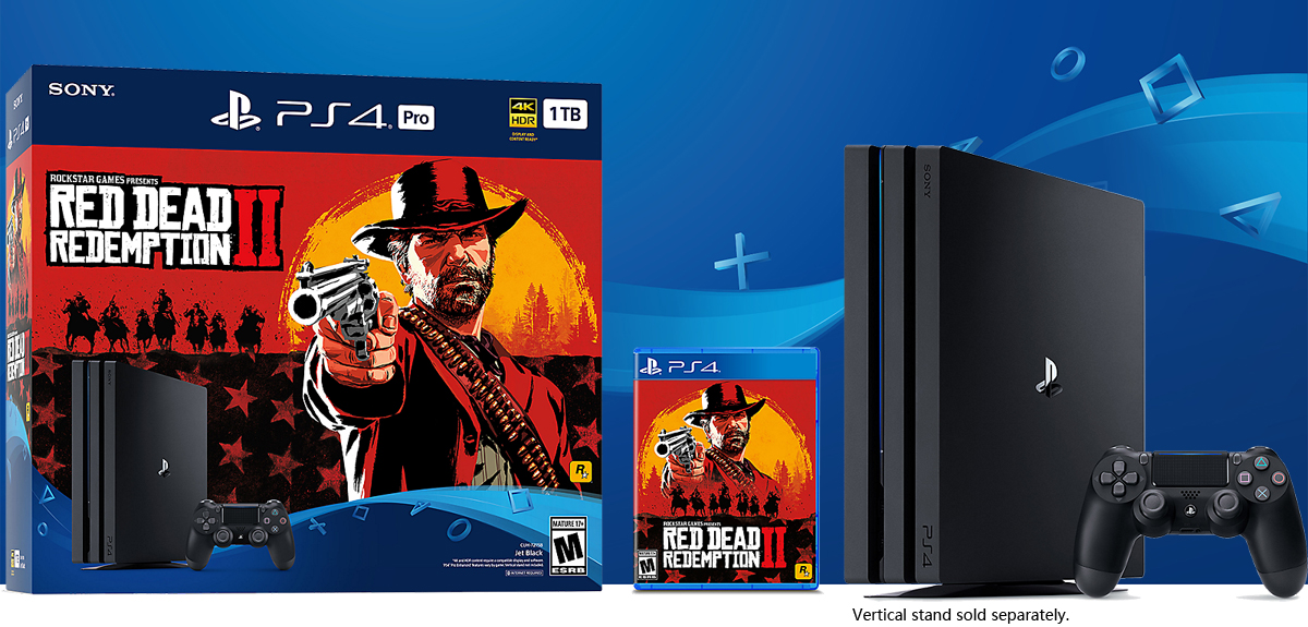 PlayStation 4 PRO 1TB Bundle - Red Dead Redemption 2 - Newegg com