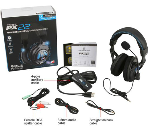 f7db9186afd Turtle Beach PX22 (TBS-3230-01) amplified universal gaming headset for PS3,  Xbox 360 and PC - Newegg.com