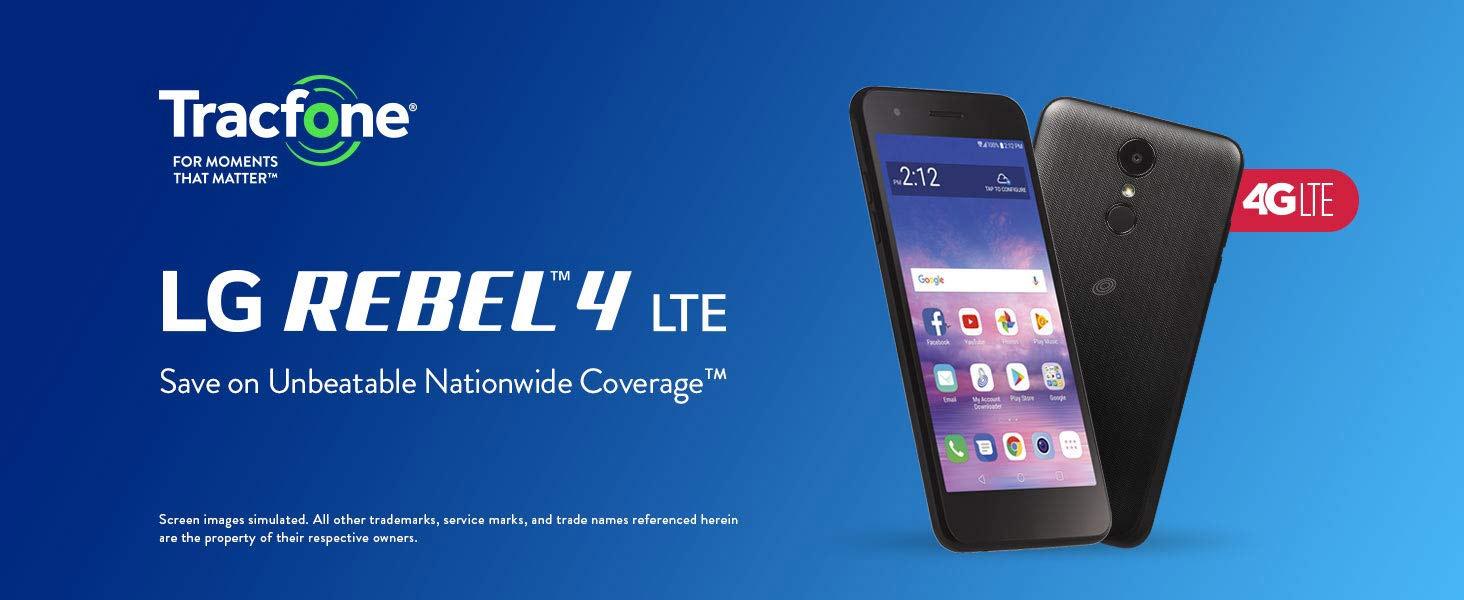 LG Rebel 4 TracFone Prepaid Cell Phone - Newegg com