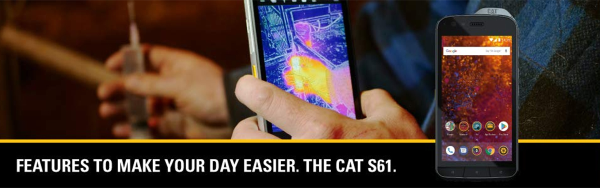 CAT S61 4G LTE Unlocked Cell Phone 5 2