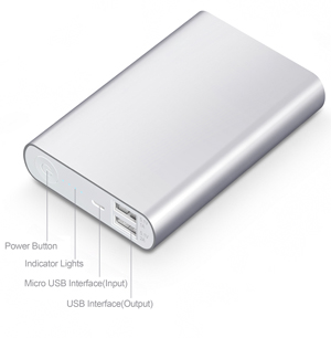 SCUD P130 13,000mAh Power Bank with dual-usb car charger