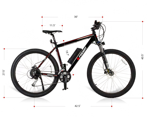 Freway Electric Mountain Ebike With 27 Speed Pedal Assist White