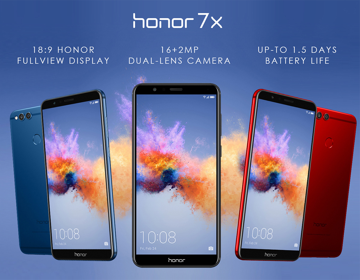 Honor 7X Unlocked Smartphone with Dual Camera (5 93