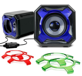 GOgroove SonaVERSE GS3 USB Computer Speakers with Interchangeable Grills & Powerful 5W Drivers