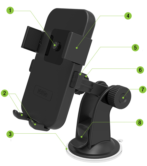 iOttie Black Easy One Touch Car Mount Holder