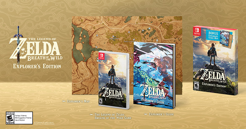 The Legend of Zelda: Breath of the Wild - Explorer's Edition - Nintendo  Switch - Newegg com