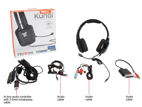 tritton kunai stereo headset for playstation 4 playstation 3 ps vita and mobile devices. Black Bedroom Furniture Sets. Home Design Ideas