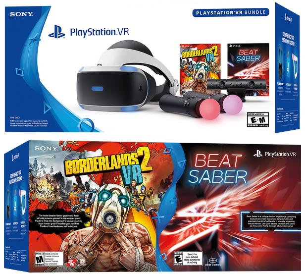 PlayStation VR - Borderlands 2 VR and Beat Saber Bundle - Newegg com