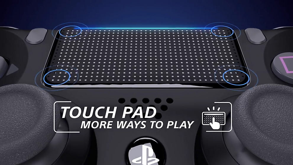 close look at the touchpad