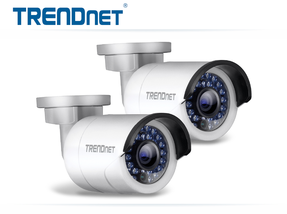 2-Pack TRENDnet TV-IP320PI2K 1.3MP Network Camera