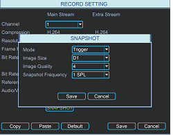 multiple recording options