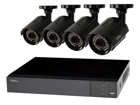 8-Channel Security System with 4 Full HD 1080p Cameras