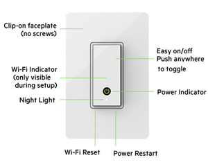 Belkin F7C030fc WeMo Light Switch Neweggcom