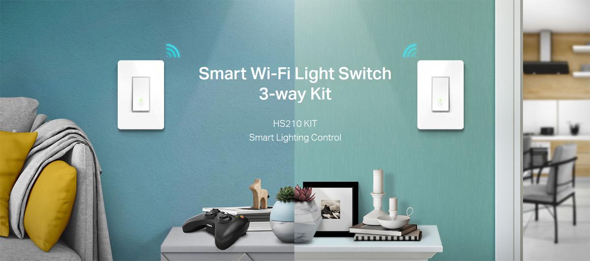 TP-Link Smart Wi-Fi Light Switch, 3-Way Kit (HS210KIT) - Newegg com