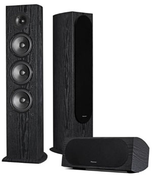 Twp Floorstanding Speakers and a Floor Monitor