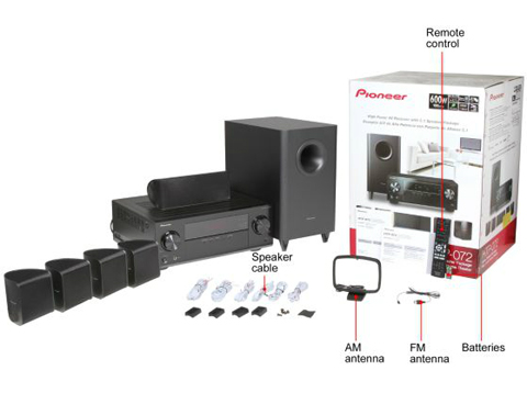 Pioneer HTP-072 Home Theater Package with 3D AV Receiver, Subwoofer and  Satellite Speakers - Newegg com