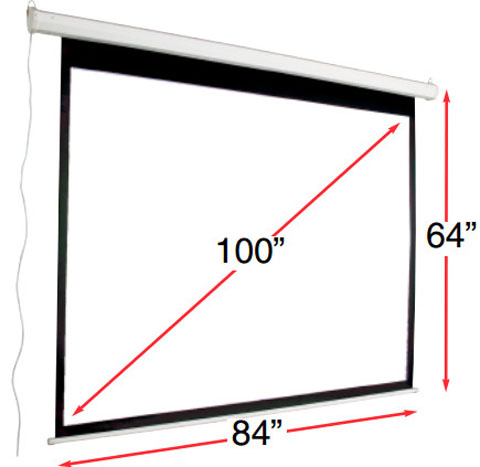 Mustang sc e100d43 motorized 100 inch projection screen for 100 inch motorized projector screen