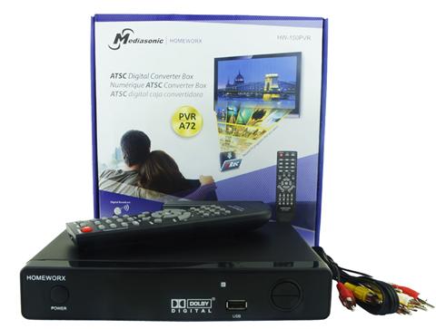Mediasonic HomeWorX ATSC Digital Converter Box with TV Recording, Media  Player, and TV Tuner Function (HW-150PVR) - Newegg com