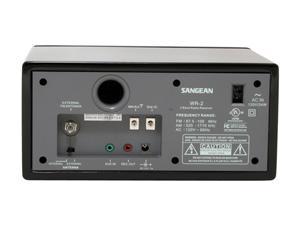 Sangean Digital AM FM Wooden Cabinet Table Top Radio WR 2 Black