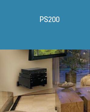 Capacity 100 lb PEERLESS PS200 Wall Component Shelf