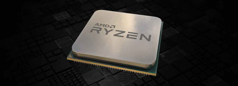 Top angle view of an AMD Ryzen processor
