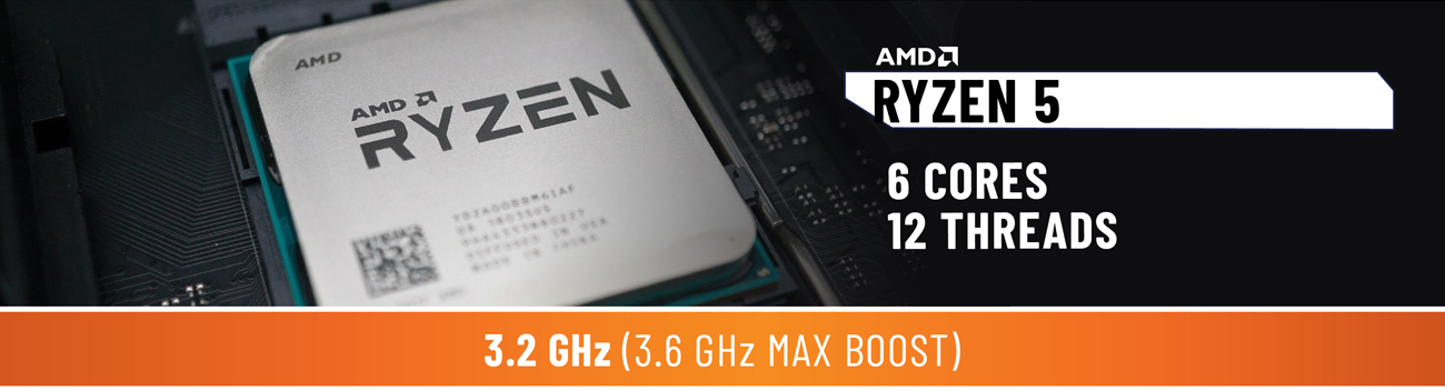 ABS Rogue SE Gaming Desktop PC AMD RYZEN 5 close up