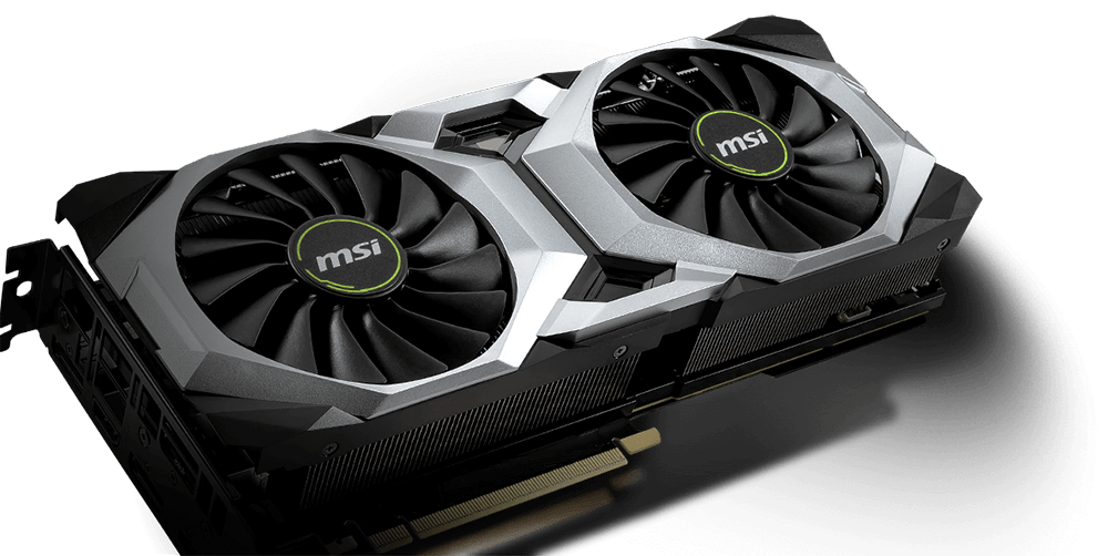 MSI RTX 20 Graphics card with two fans