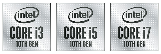 Logos - Intel Core i3, i5, i7 10th Gen