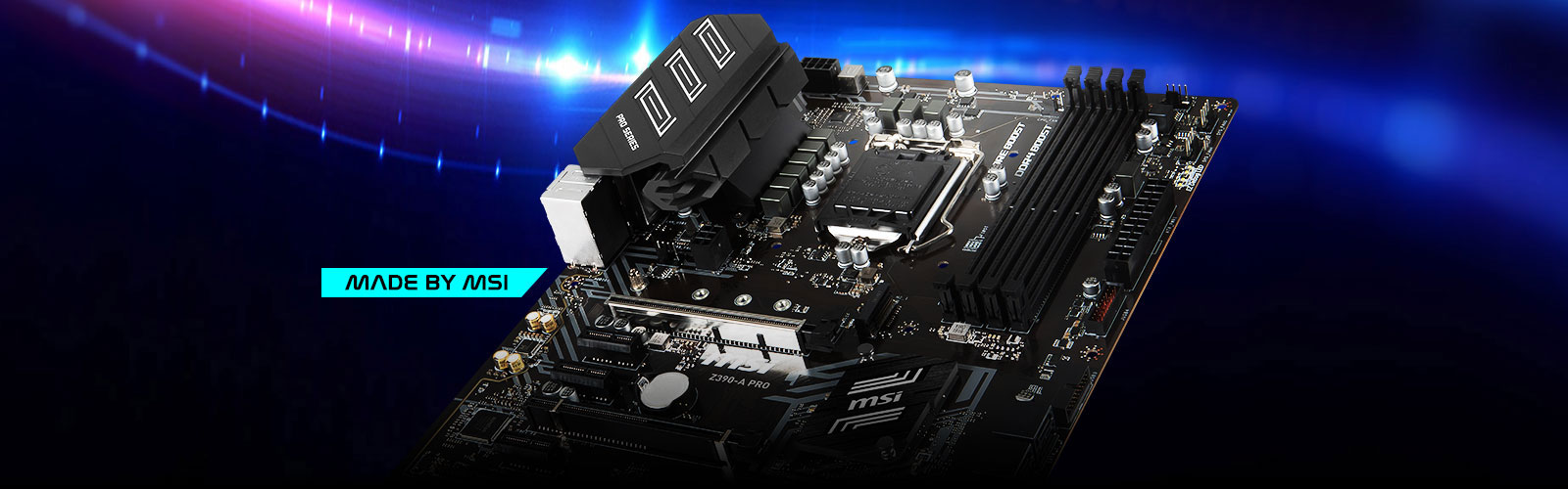 Motherboard made by MSI.