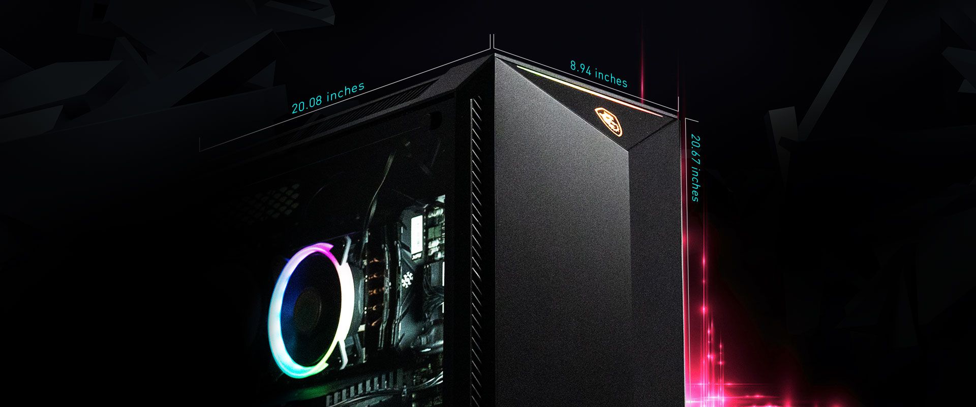 Main specification: MS GUNGNIR 100 CASE, RTX 2060 SUPER, MSI Z390 MOTHERBOARD, 1TB SSD, 9TH GEN CORE I7 and 16GB DDR4 3000MHZ