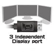 Expand Your Desktop Workspace with Three Independent Displays