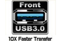 Easy connectivity with front USB 3.0 ports