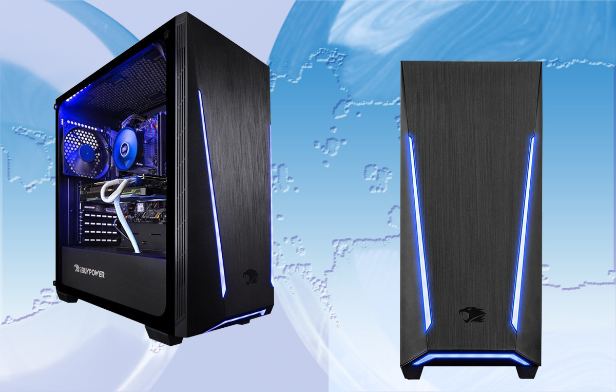 Two Trace 2 PRO112A desktops with one tilted slightly to the righit to show the front and side and the other showing the front panel.