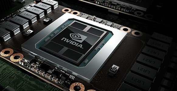 A graphic showing the NVIDIA GPU in its circuitry environment