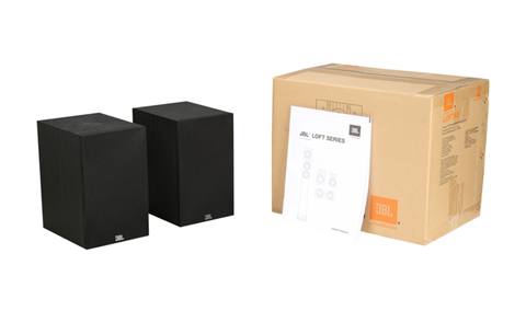 jbl loft 40 125-watt 5-1/4 two-way bookshelf speakers 1