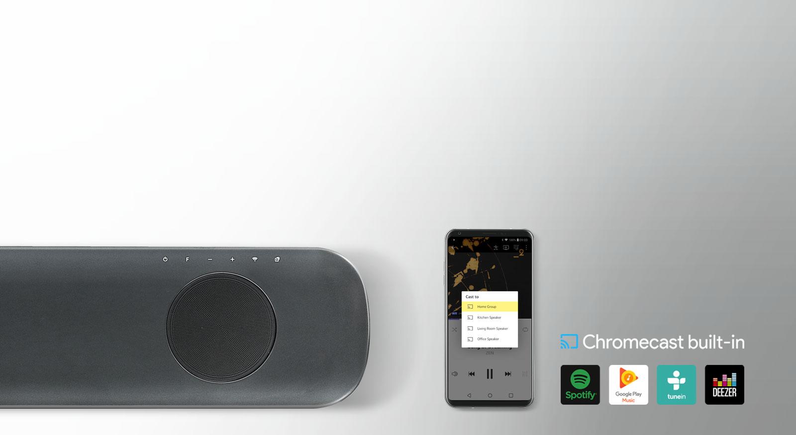 LG SK9Y 500W 5 1 2 ch High Res Audio Sound Bar with Dolby Atmos® -  Newegg com