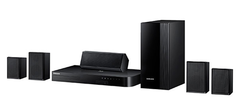 samsung home theater system. samsung 5.1 channel 1000-watt blu-ray home theater system - ht-j4100 n