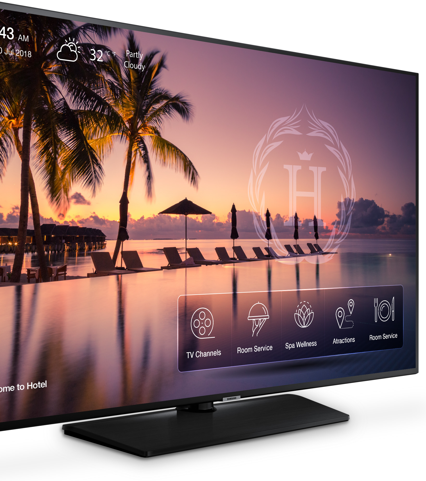 "Samsung NJ678U Series 50"" 4K Ultra HD Direct-Lit LED Hospitality TV, Anynet  + (HDMI – CEC), USB 2 0, RJ-12/IR Pass Through - HG50NJ678UFXZA - OEM"