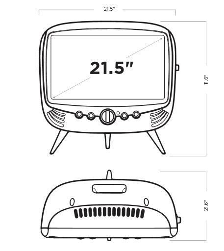 seiki 22 u0026quot  class 1080p 60hz retro design led tv
