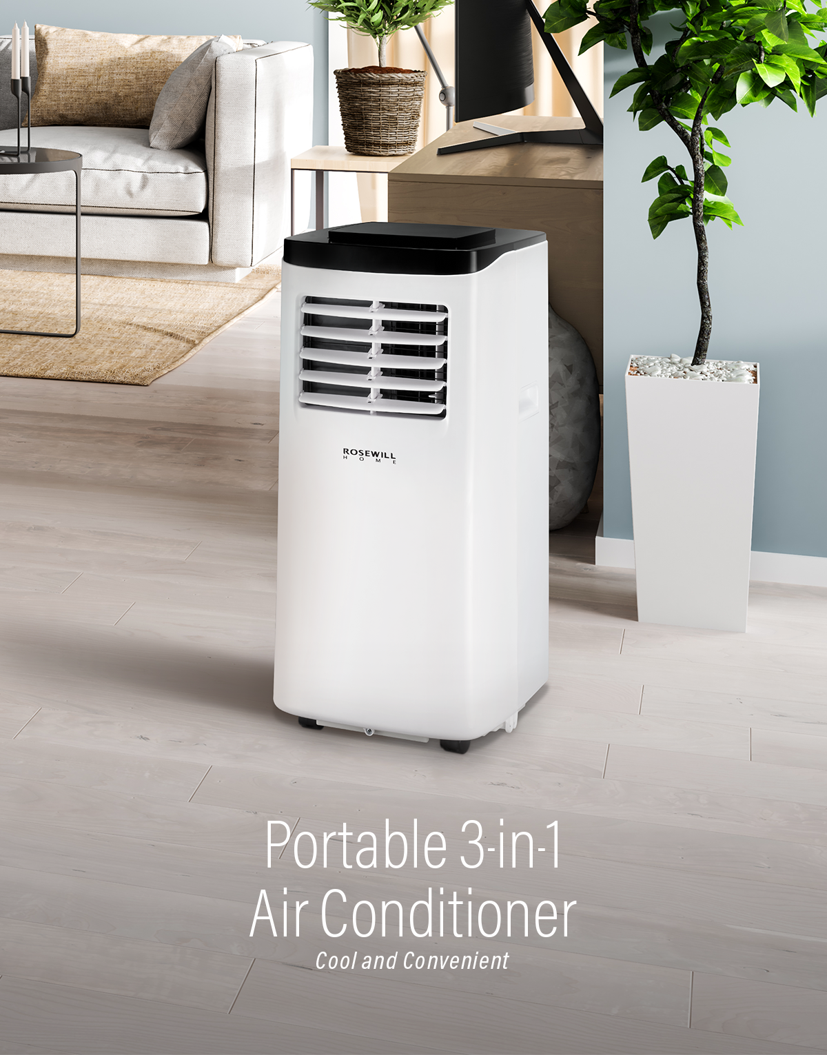 Rosewill Portable Air Conditioner Fan Amp Dehumidifier 3 In