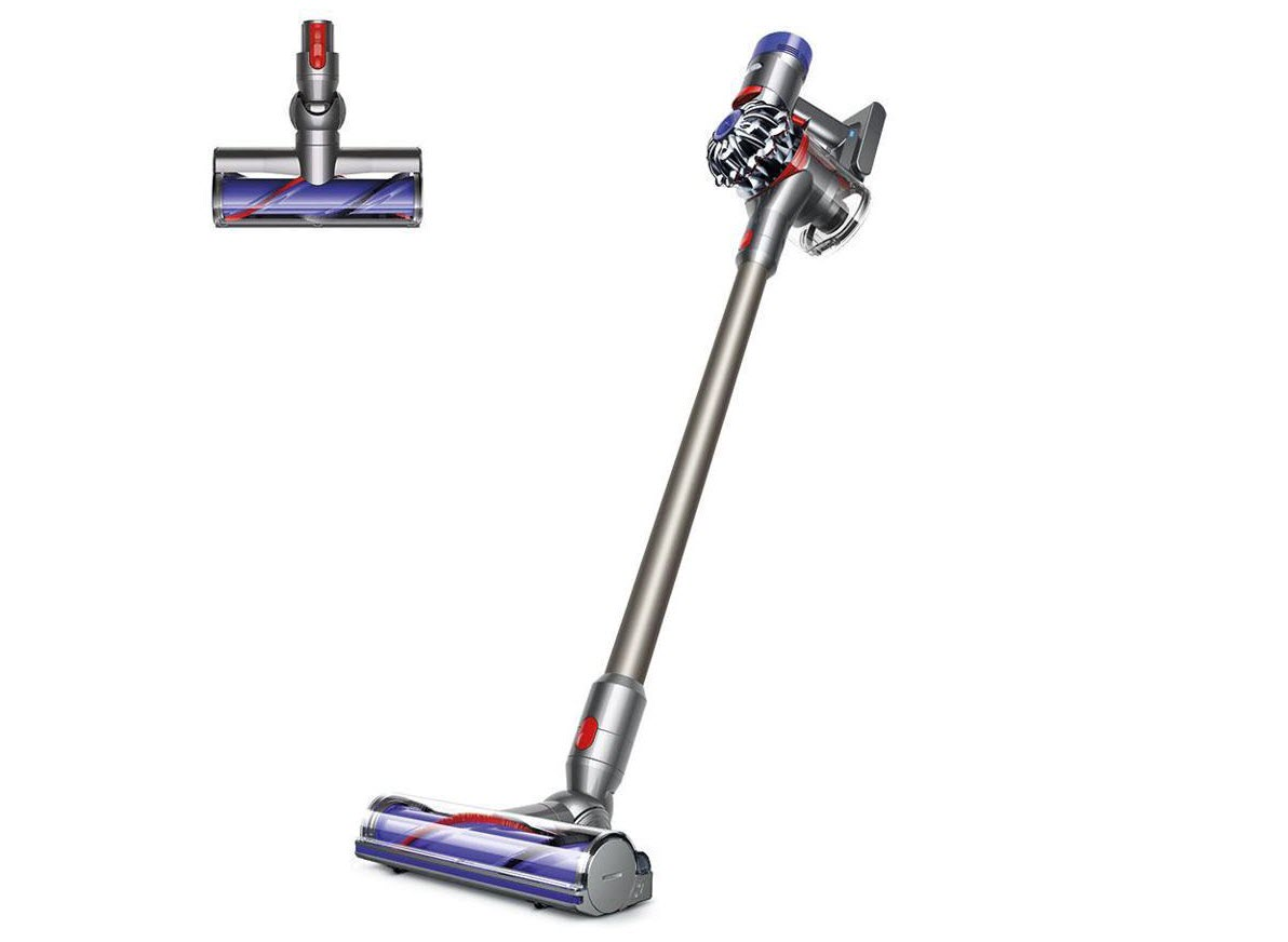 Dyson V7 Animal Cordless HEPA Vacuum in fuchsia color