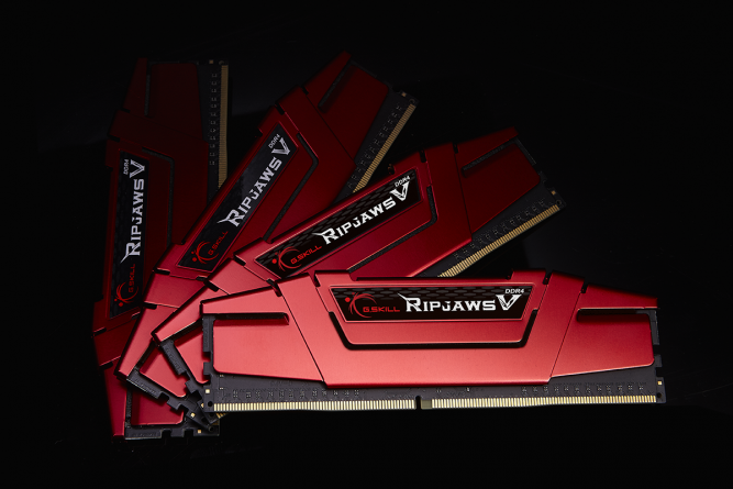 four red Ripjaws V series modules